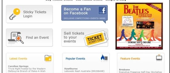 Sticky Tickets   Online Ticketing & Registration