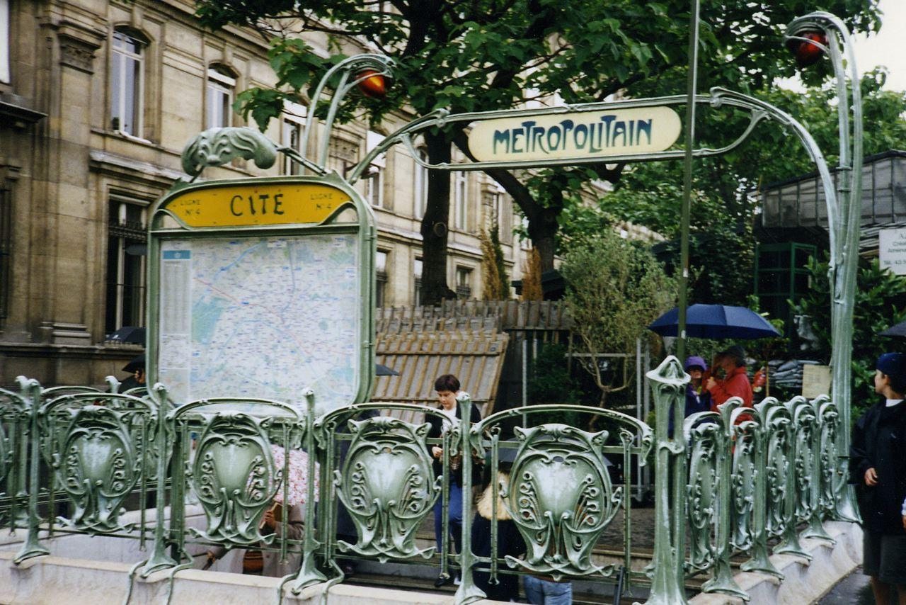 Paris Metro Entrance Art Nouveau Design | Digital Editions