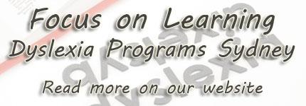 Dyslexia Programs Sydney