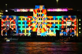 vivid sydney building light projection art