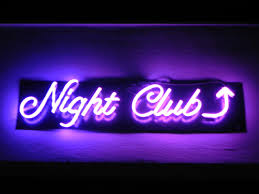 night club neon sign bar alcohol drink happy hour