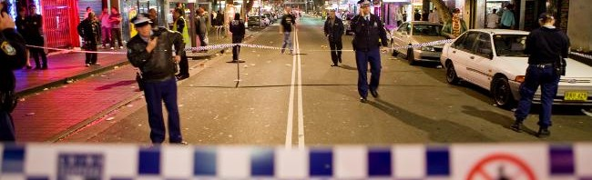 kings cross police safe shooting fight stabbing violence