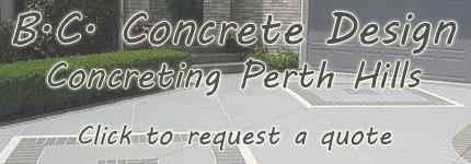 Concrete Design Perth Hills