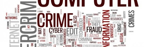 cyber crime word cloud, fraud, hacking, spam