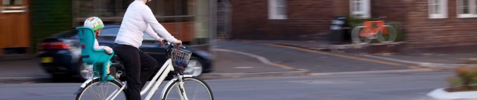 cyclist commute baby sydney