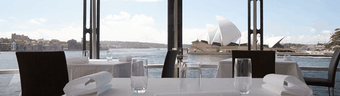 quay sydney harbour view, opera house, restaurant