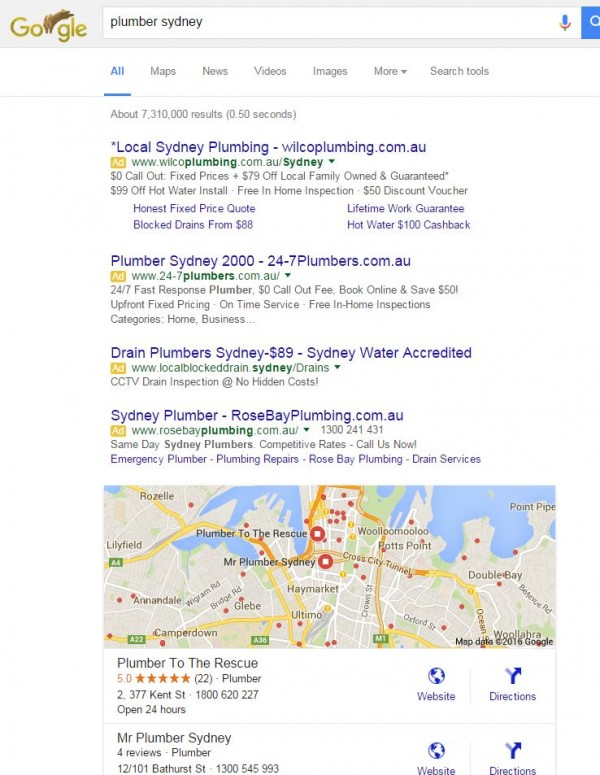 small business google rank