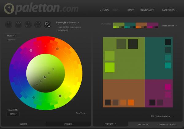 Palleton-online-colour-pallet-web-app